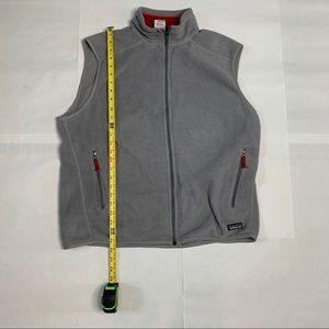 Patagonia Synchilla Fleece Vest XL Grey With Red
